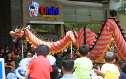 Dragon dance Stock Image