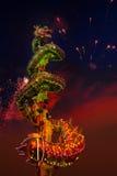 Dragon Dance en una celebración china del ` s del Año Nuevo Imagen de archivo