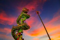 Dragon Dance en una celebración china del ` s del Año Nuevo Fotografía de archivo