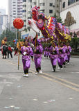Dragon dance in non heritage festival,chengdu,china Stock Image