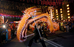 Dragon dance Royalty Free Stock Photography