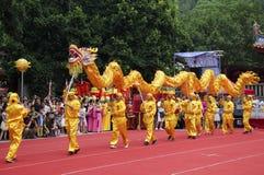 Dragon dance Stock Images