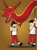 Dragon Dance Vector Royalty Free Stock Photos