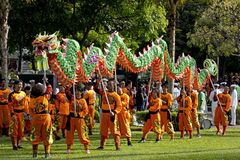 Dragon Dancers Stock Image