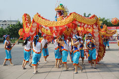 Dragon dances Royalty Free Stock Images