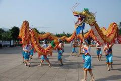 Dragon dances Royalty Free Stock Photography