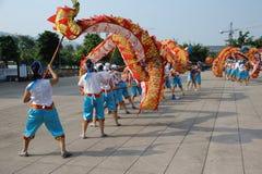 Dragon dances Stock Photo