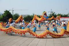 Dragon dances Stock Images
