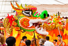 Free Dragon Dancing During Chinese New Year Stock Image - 22987281