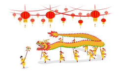 Dragon Dancing show Royalty Free Stock Photos