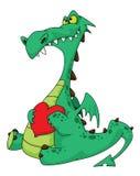 Dragon dans l'amour Photo stock