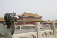Dragon dans le Cité interdite Images libres de droits