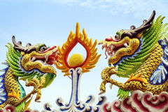 Dragon dans le temple Image stock