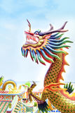 Dragon dans le temple Photographie stock