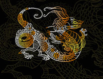 Dragon on dark background Royalty Free Stock Photos