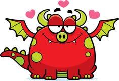 Dragon de bande dessinée dans l'amour photo libre de droits