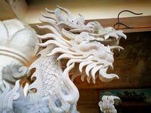 Dragon de blanc chinois Image libre de droits