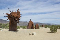 Dragon de Borrego Springs photo libre de droits