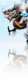 Dragon de danse dans le festival chinois de nouvelle année Photographie stock
