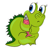 Dragon de dessin animé. chéri de dinosaur Photo stock