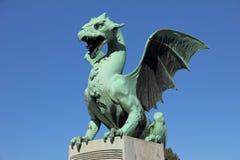 Dragon de Ljubljana, Slovénie Photo stock