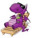 Dragon de relaxation illustration libre de droits