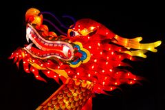 Dragon de soie de Dragon Chinese Lantern Festival Photos libres de droits