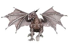 dragon de vampire d'imagination du rendu 3D sur le blanc Images stock