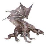 dragon de vampire d'imagination du rendu 3D sur le blanc Photographie stock