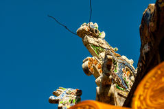 Dragon decor on pavilion in garden of Citadel in Hue. Vietnam. Stock Images