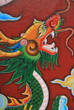 A dragon decorates a pillar in a buddhist temple in Hoi An (Vietnam) Stock Image