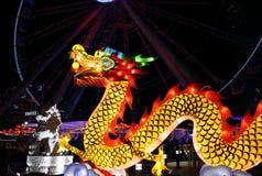 Dragon decoration at Central pier in Hong Kong Royalty Free Stock Photo