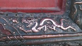 Dragon Detail from the forbidden city in Beijing Royalty Free Stock Images