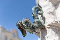 Dragon. Detail of a fountain in Sintra, Portugal Royalty Free Stock Images