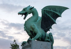 Dragon on the dragon bridge in the early morning Royalty Free Stock Photography