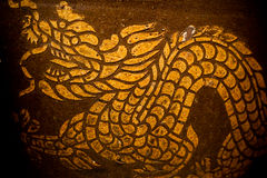 Dragon drawing. This image is pubilc domain. Dragon drawing art on the jar. the art of thailand royalty free stock photo