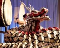 Dragon Drummer Arkivbild