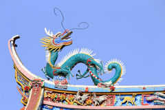 The dragon on the eave Stock Photography