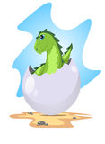 Dragon in the egg Royalty Free Stock Photography