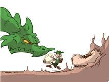 Dragon egg thief Stock Image