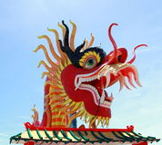 The Dragon. The Elegant Dragon in the sky Royalty Free Stock Image