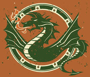 Dragon Emblem Royalty Free Stock Images