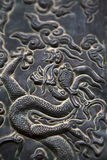 Dragon embossing - close up Stock Images
