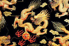 The dragon of the embroidery Royalty Free Stock Images