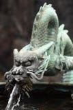 Dragon en bronze image libre de droits