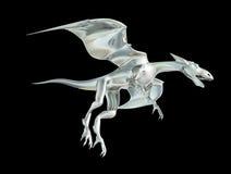 Dragon en métal Images stock