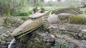 Dragon en pierre Image stock