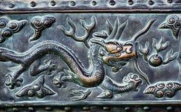 Dragon engraving Royalty Free Stock Photography