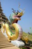 Dragon at entrance of Chedi of Wat Huay Pla Kang Temple in Chiangrai, Thailand. Stock Image