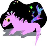 Dragon et étoiles étrangers illustration stock